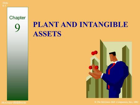 © The McGraw-Hill Companies, Inc., 2002 McGraw-Hill/Irwin Slide 9-1 PLANT AND INTANGIBLE ASSETS Chapter 9.