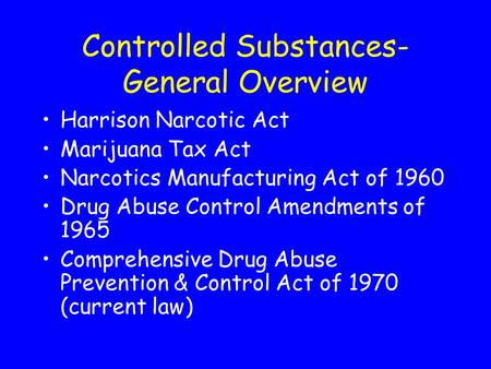 history of the harrison narcotic act The harrison narcotics act of 1914 (harrison act pl 63-223), among other things, required importers, manufacturers, and distributors of cocaine and opium to register with the us drug enforcement in the united states: history.