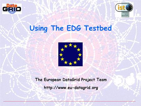 Using The EDG Testbed The European DataGrid Project Team