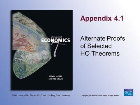 Appendix 4.1 Alternate Proofs of Selected HO Theorems.
