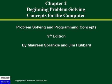 Problem Solving Concepts