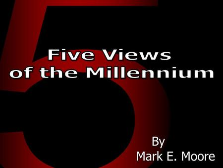 Five views <strong>of</strong> the millennium