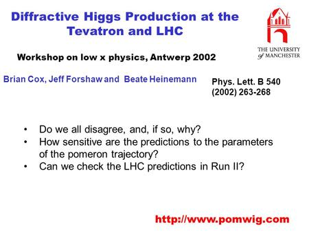 Diffractive Higgs Production at the Tevatron and LHC  Do we all disagree, and, if so, why? How sensitive are the predictions to the.