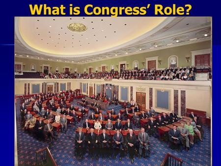 What is Congress' Role?. Congress' Enumerated Powers Specific powers listed in Article I, Section 8 (see Pg. 318) Specific powers listed in Article I,