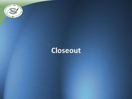 Closeout. ABC/PBES Web Resource