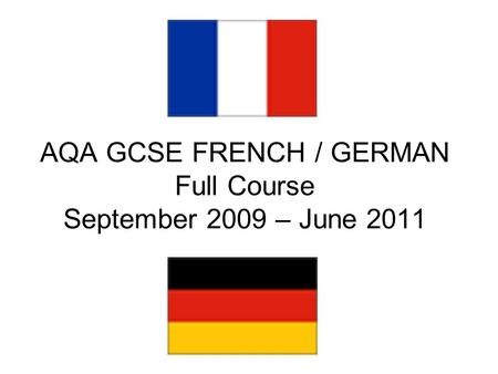 aqa french gcse coursework