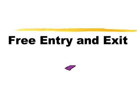 Free Entry and Exit. Definitions  Long Run -a situation where a producer is able to vary all the factors of production.  Free Entry and Exit - a condition.