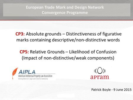 CP3: Absolute grounds – Distinctiveness of figurative marks containing descriptive/non-distinctive words CP5: Relative Grounds – Likelihood of Confusion.