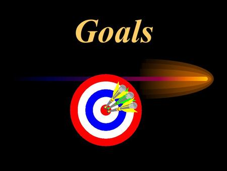 "Goals. Objectives: Define Goal Setting"". List five benefits of having Goals Discuss 10 principles/points to effective goal setting. Describe difference."