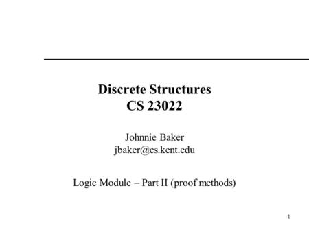 Discrete Structures CS 23022