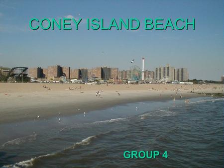 "CONEY ISLAND BEACH GROUP 4. SEE- HISTORY  Discovered by Henry Hudson in early September 1609  The original dutch name was ""KONIJN KOK""  By 1920, the."