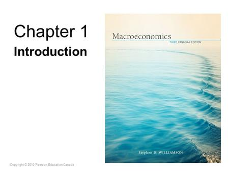 Chapter 1 Introduction Copyright © 2010 Pearson Education Canada.