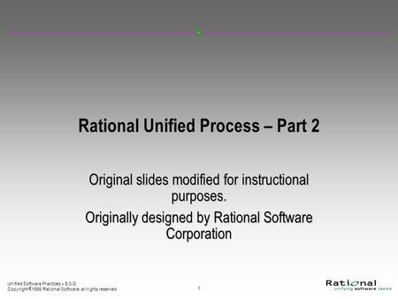 Rational Unified Process – Part 2