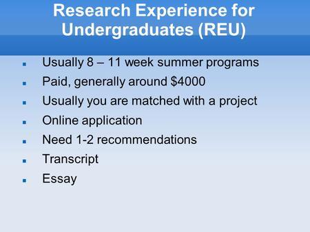 nasa summer program application essay