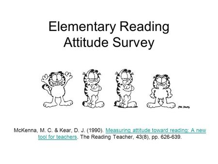 Elementary Reading Attitude Survey