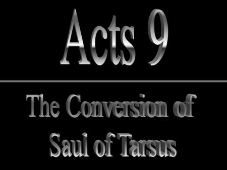 Outline of the Book of Acts Pre - Conversion 1:8.
