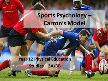 Sports Psychology – Carron's Model