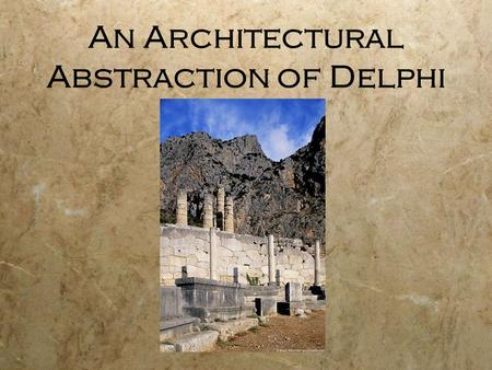 An Architectural Abstraction of Delphi