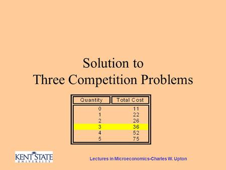Lectures in Microeconomics-Charles W. Upton Solution to Three Competition Problems.