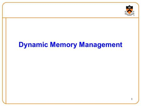 1 Dynamic Memory Management. 2 What's worse?  50% of instructions/data are cache misses (fetched from RAM)  1% of instructions/data are page faults.
