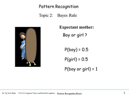 Pattern Recognition Topic 2:    Bayes Rule Expectant mother: