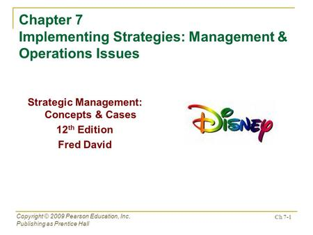 strategic operation issues Key issues in strategic human resources abstract [excerpt] this chapter, on strategic human resource management (shrm), is really not for the hospitality.