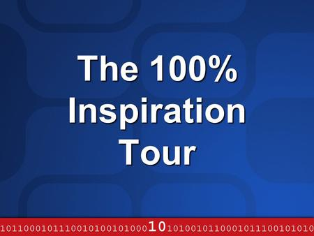 The 100% Inspiration Tour. Web Services – An Industry Approach to the evolution of Distributed Architecture Mark Johnston Academic Team, Microsoft UK.