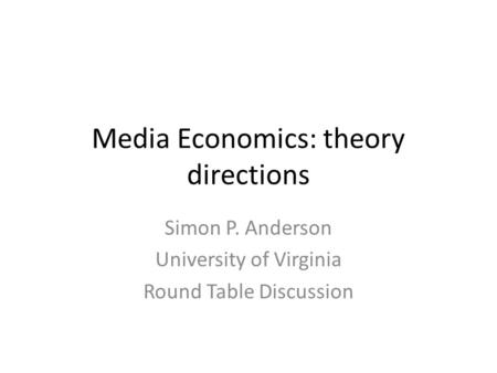 A discussion on the theories in economics