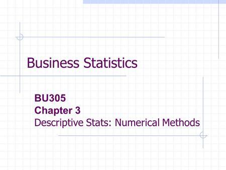 Business Statistics, 3rd Edition