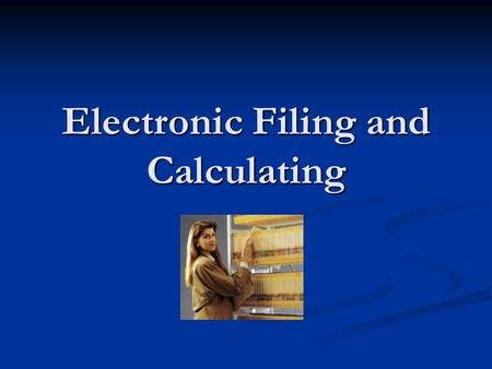 Electronic Filing and Calculating. Rule 6 Prefixes—Articles and Particles.
