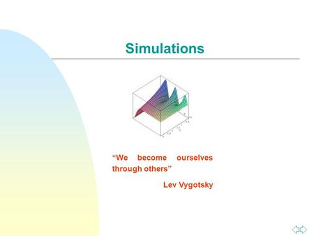 "Simulations ""We become ourselves through others"" Lev Vygotsky."