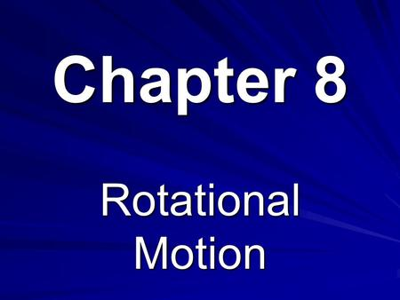 Chapter 8 Rotational Motion Forces and circular motion Circular motion = accelerated motion (direction changing) Centripetal acceleration present Centripetal.