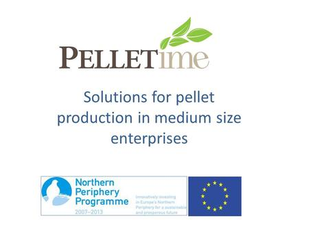 Solutions for pellet production in medium size enterprises.