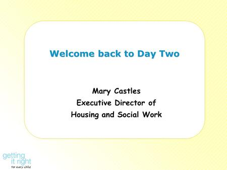 Mary Castles Executive Director of Housing and Social Work