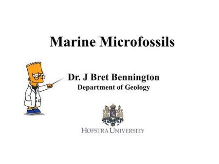 Marine Microfossils Dr. J Bret Bennington Department of Geology.