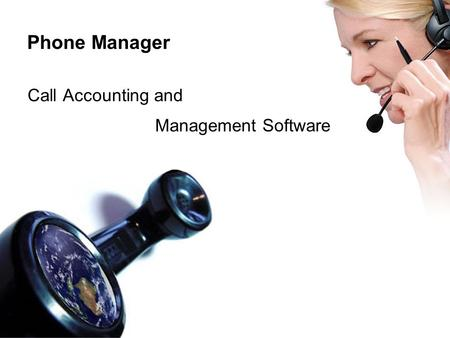 Phone Manager Call Accounting and Management Software.