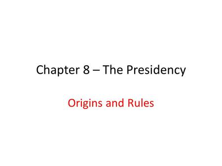 "Chapter 8 – The Presidency Origins and Rules. How does the following cartoon illustrate Nixon's comment ""Those on the right can do what only those on."