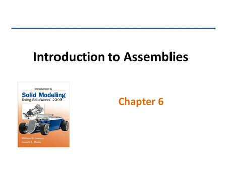 Introduction to Assemblies Chapter 6. Assemblies Assembly files consist of multiple parts and the mates that define constraints between parts By default,