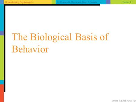 Chapter 2 The Biological Basis of Behavior. chapter 2 Neurons: The Messengers Neurons vary in size and shape All are specialized to receive and transmit.