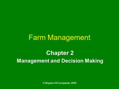 Chapter 2 Management and Decision Making
