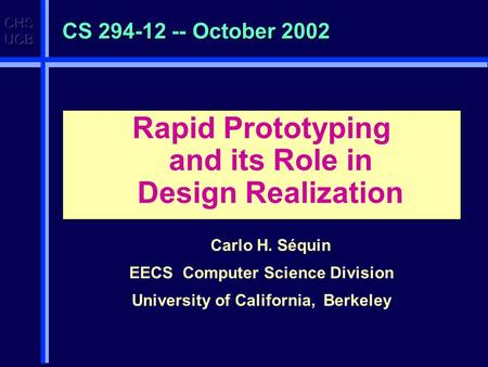 What can sff be used for use of 3d hardcopy finishing what is 3d hardcopy good for cont - Div computer science ...