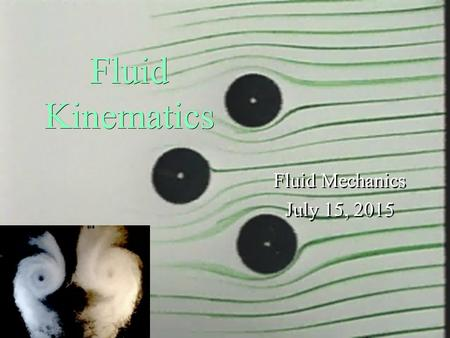 Monroe L. Weber-Shirk S chool of Civil and Environmental Engineering Fluid Kinematics Fluid Mechanics July 15, 2015 Fluid Mechanics July 15, 2015 