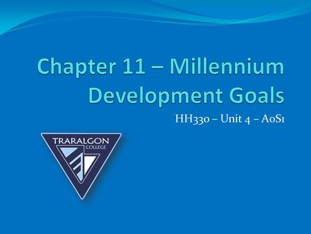 Chapter 11 – Millennium Development Goals