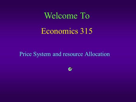 leaving resource allocation to the price mechanism The role of the price mechanism in resource allocation in economics, the price mechanism refers to the invisible hand of demand and supply it is seen to be one that answers the economic.