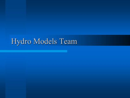 Hydro Models Team. Introduction RHESSys is a spatially distributed model of watershed carbon, water and nutrient dynamics. RHESSys stands for Regional.