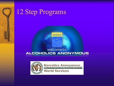 12 Step Programs. A Brief History of AA  Alcoholics Anonymous  AA was founded in 1935  By 1950 there were 90,000 members  In 1998 there were over.