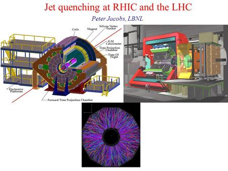 Jet quenching at RHIC and the LHC Peter Jacobs, LBNL.