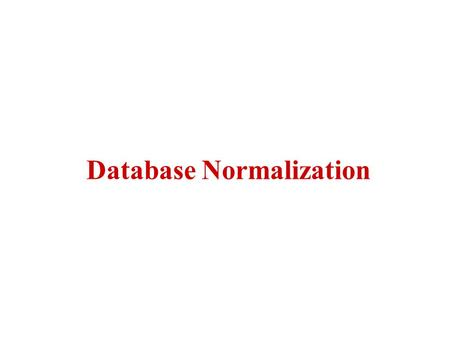 Database Normalization. This is the process which allows you to winnow out redundant data within your database. This involves restructuring the tables.