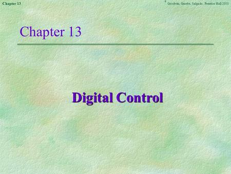 Chapter 13 Digital Control <<<13.1>>>