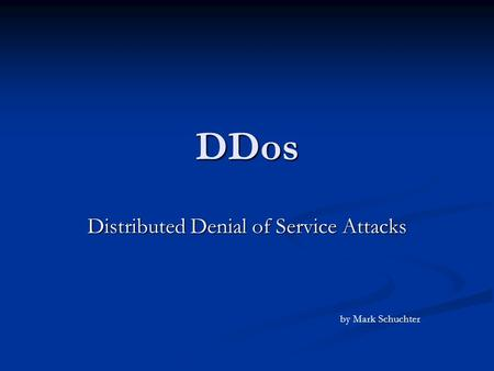 ddos thesis defend throttle Who people and organizations associated with either the creation of this thesis or its content.